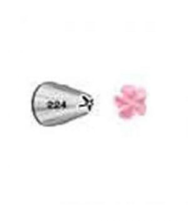Piping nozzle Drop Flower Tip #224 nickel-plated brass by Wilton