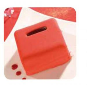 Flexipan Square Casket Moulds  x 15 110ml - 65x65x35mm by Matfer Bourge