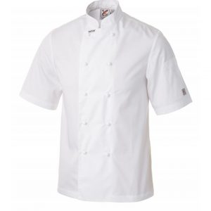 5 for the price of 4: Traditional Short Sleeve Jacket in White by Club Chef