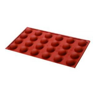 Semi Sphere Silicone Mould 30x15mm - 7mls - 24 indent by Red Spoon Company