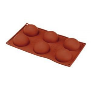 Semi Sphere Silicone Mould 70x35mm - 90ml - 6 Indent by Red Spoon Company