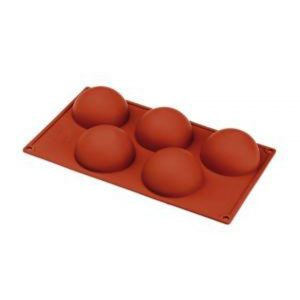 Semi Sphere Silicone Mould 80x40mm - 134ml - 5 Indent by Red Spoon Company