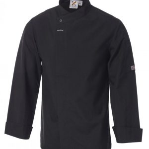 5 For The Price Of 4: Food Preparation Chef Jacket Black L/S by Club Chef