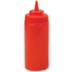 Plastic Squeeze Bottle - 472ml Red