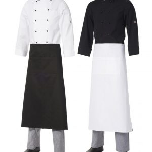 Long Apron with Pocket Heavyweight Cotton