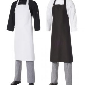Bib Apron Heavyweight Cotton- Large by Club Chef