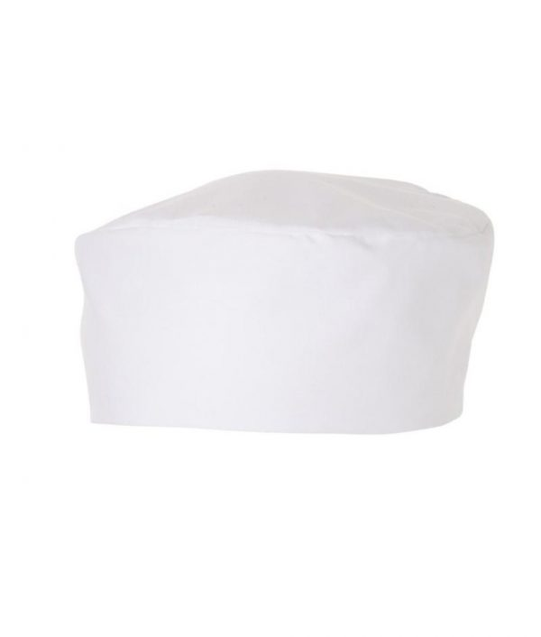 Traditional Flat Top Hat White (Skull Cap / Pill Box) by Club Chef Butcher & Baker Uniforms 2