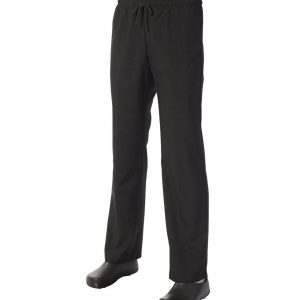 Black Drawstring Trouser by Club Chef