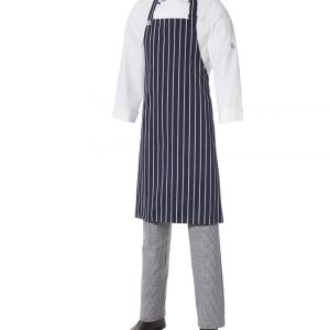 Bib Apron Pinstripe – Medium by Club Chef Aprons 6