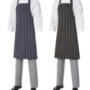 Bib Apron Pinstripe - Medium by Club Chef