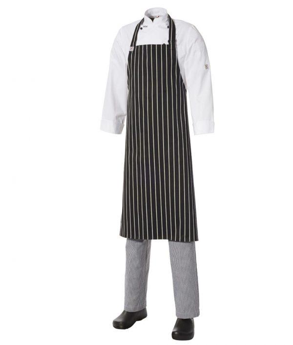 Bib Apron Pinstripe – Large by Club Chef Aprons 3