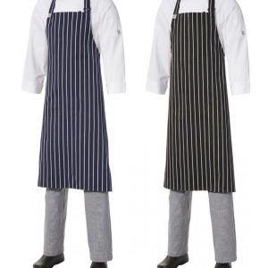 Bib Apron Pinstripe - Large by Club Chef