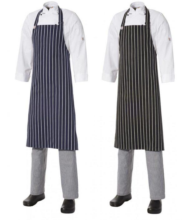 Bib Apron Pinstripe - Large by Club Chef