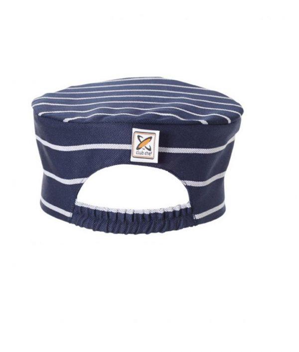 Flat Top Hat Pinstripe by Club Chef Butcher & Baker Uniforms 3