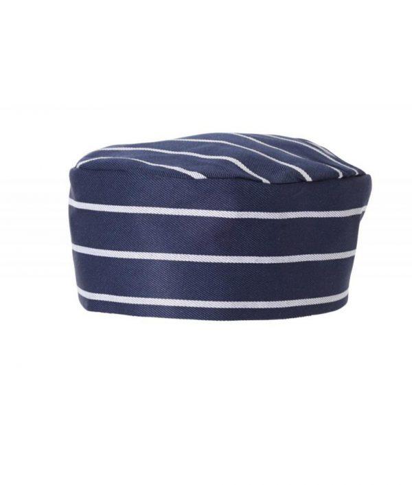 Flat Top Hat Pinstripe by Club Chef Butcher & Baker Uniforms 5