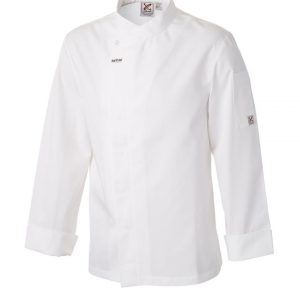 Food Preparation Chef Jacket White by Club Chef