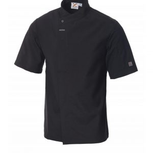 Food Preparation Chef Jacket Short Sleeves Black by Club Chef