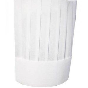 Semi-disposable Viscose Chef Hat Flat Top 25cm