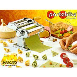 Atlas Pasta Machine Model 150 with Spaghetti and Fettuccine attachment.