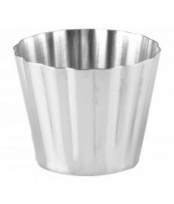 Fluted Dariole Mould - Aluminium- 67x56mm