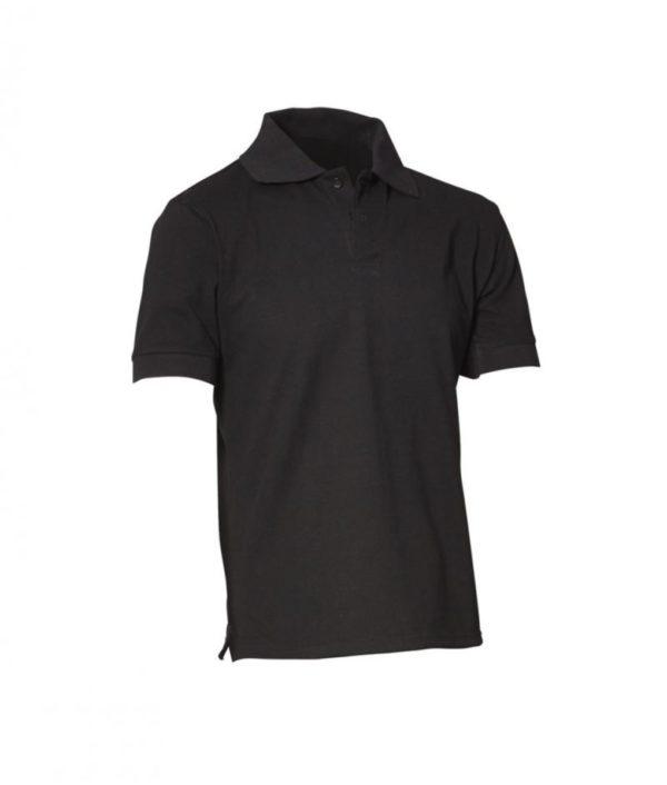 Mens Polo Shirt - Black - Neon by Fashion Biz