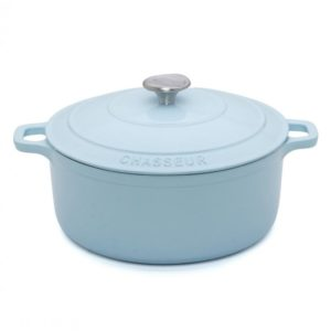 Chasseur Duck Egg Blue Round French Oven 24cm/3.8L