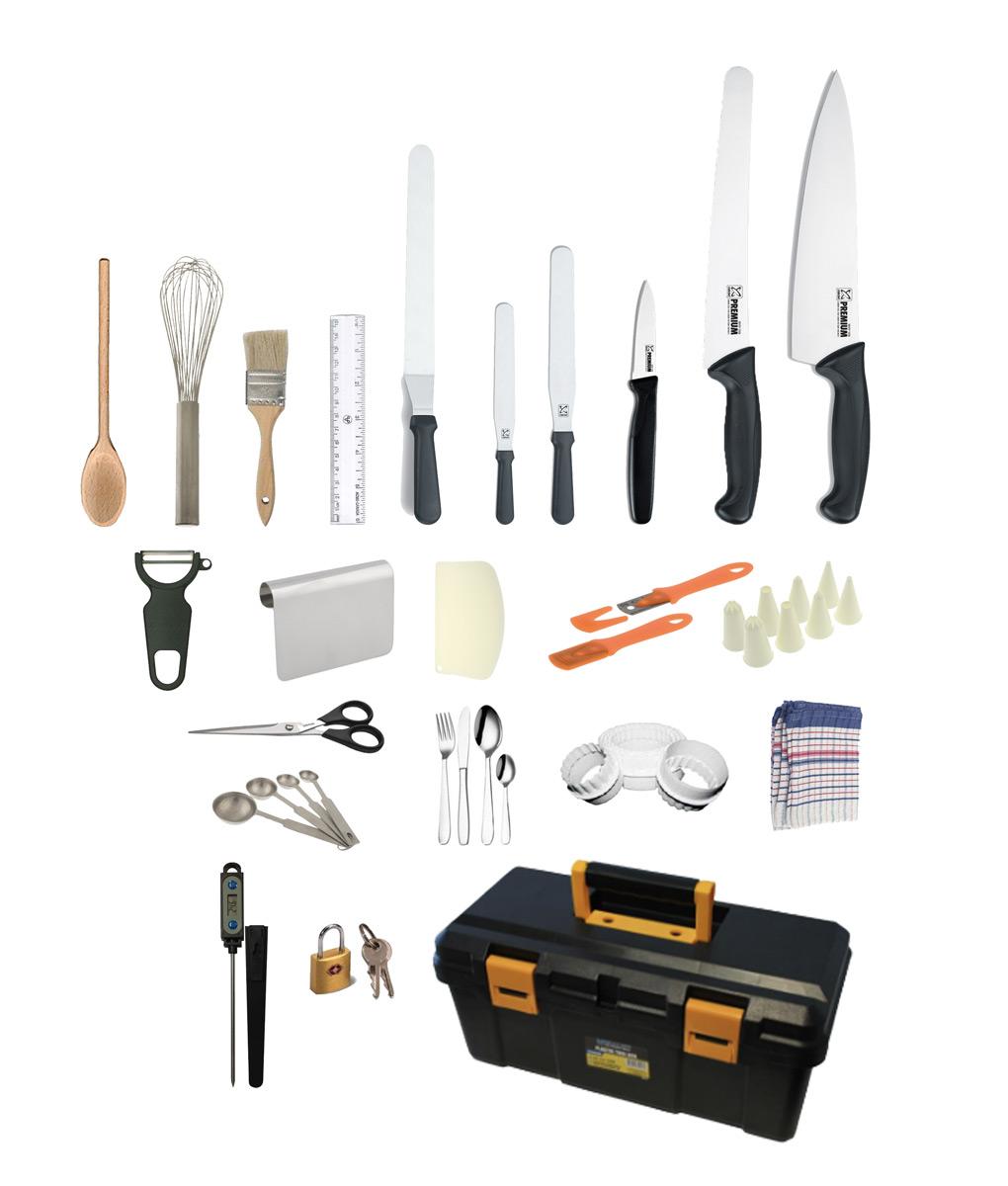 25 Piece Patisserie Chef Starter Kit By Club Chef Club