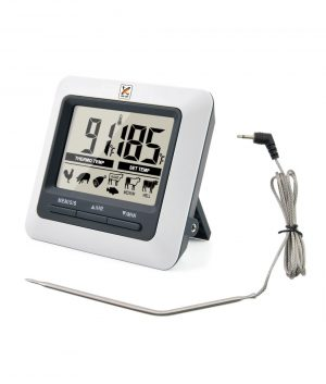 Bench Top Digital Food Thermometer with External Probe by Club Chef Thermometers & Timers