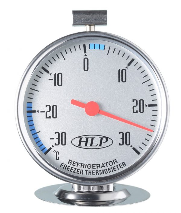 Platinum Refrigeration & Freezer Dial Thermometer with Stainless Steel Housing Thermometers & Timers