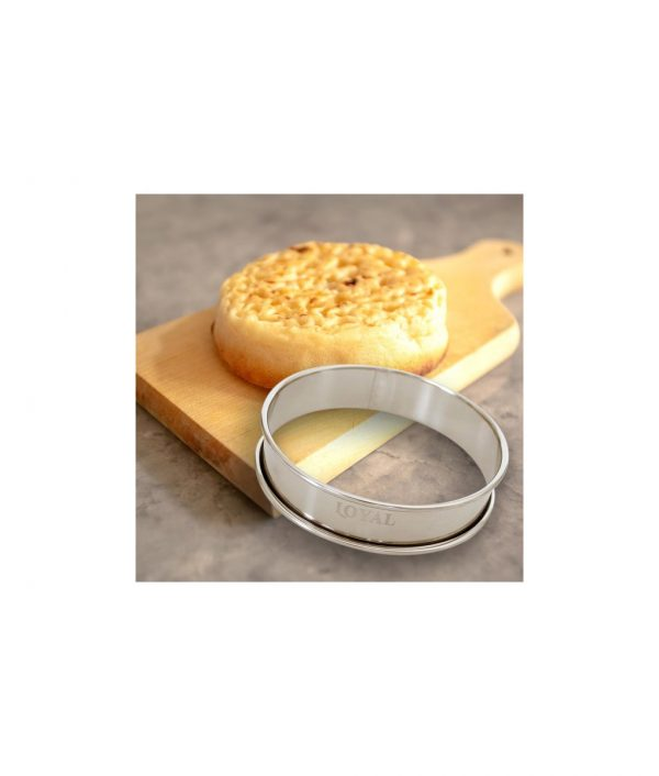 Crumpet Ring – Stainless Steel – 80mm by Loyal Bakeware 2