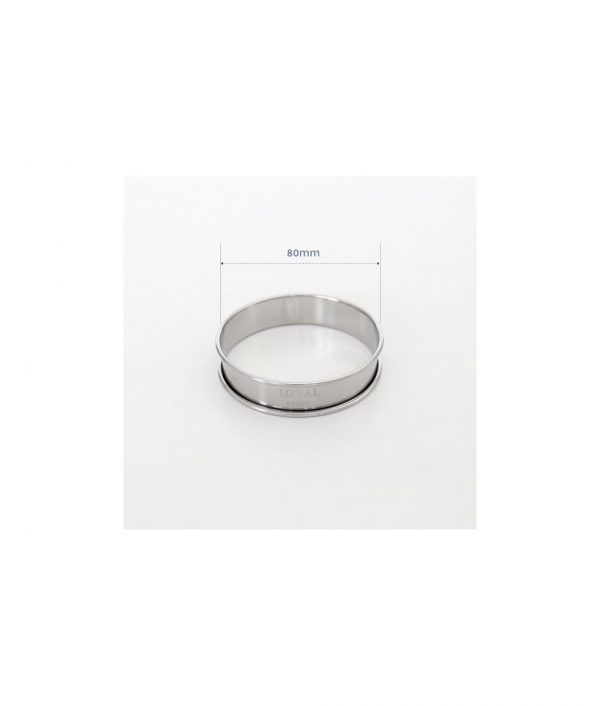 Crumpet Ring – Stainless Steel – 80mm by Loyal Bakeware