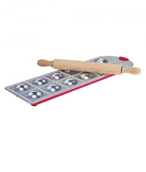 Avanti Ravioli Making Tray Set with Rolling Pin Pizza and Pasta Tools 4